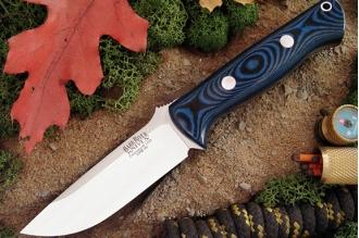Нож Bravo 1 3VR (рукоять голубое с черным) Bark River, США