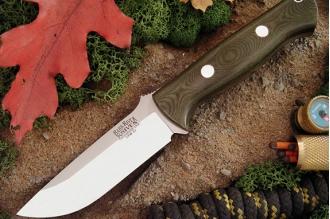 Нож Bravo 1 3VR (рукоять зеленая микарта) Bark River, США