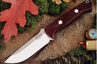 Нож Bravo 1 3VR (рукоять темно-бордовая микарта) Bark River, США
