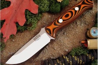 Нож Bravo 1 3VR (рукоять тигровая полоса) Bark River, США