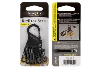 Брелок для ключей S-Biner (black) Nite Ize