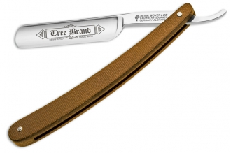 Бритва опасная Tree Brand Brown Canvas Micarta Böker, Германия