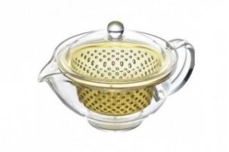 Чайник заварочный ударопрочный 0.28 л (золотой) Akebono, Япония