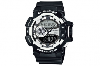 Часы Casio G-Shock GA-400-1A противоударные и водонепроницаемые, с функцией коле