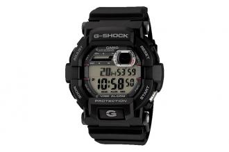 Часы Casio G-Shock GD-350-1E противоударные и водонепроницаемые, с режимом вибро