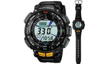 Водонепроницаемые часы Casio PRO TREK PRG-240-1E в пластиковом корпусе