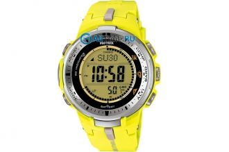 Часы мужские Casio PRO TREK PRW-3000-9B желтого цвета