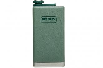 Карманная фляжка Adventure SS 0,35 л Stanley зеленого цвета с герметичной крышко