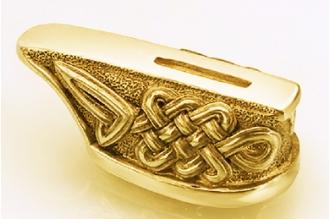 """Гарда для рукояти ножа """"Кельтский орнамент"""" 422 (латунь)"""
