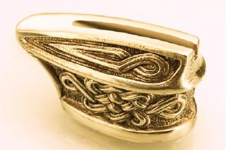 """Гарда для рукояти ножа """"Кельтский орнамент"""" 423 (латунь)"""