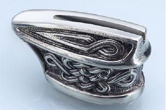 """Гарда для рукояти ножа """"Кельтский орнамент"""" 423 (мельхиор)"""