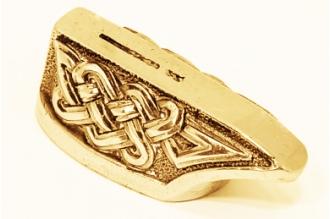 """Гарда для рукояти ножа """"Кельтский орнамент"""" 483 (латунь)"""