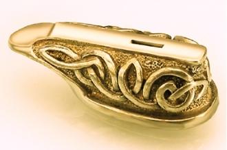 """Гарда для рукояти ножа """"Морской узел"""" 454 (латунь)"""