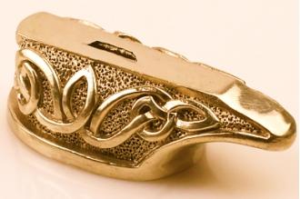 """Гарда для рукояти ножа """"Морской узел"""" 468 (латунь)"""