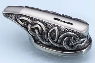 """Гарда для рукояти ножа """"Морской узел"""" 468 (мельхиор)"""