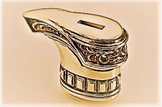"""Гарда для рукояти ножа """"Сапог рыцаря"""" 469 (латунь)"""