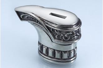 """Гарда для рукояти ножа """"Сапог рыцаря"""" 469 (мельхиор)"""