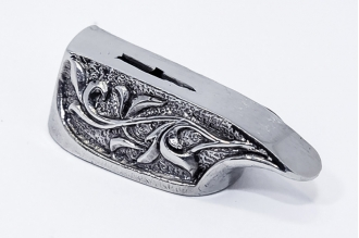 """Гарда для рукояти ножа """"Ветвь"""" 450 (мельхиор)"""