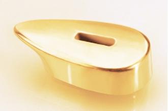 Гарда для рукояти ножа гладкая 416 (латунь)