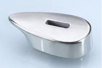 Гарда для рукояти ножа гладкая 416 (мельхиор)