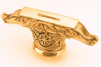 Гарда ножа «Солярный символ» 420 (латунь)