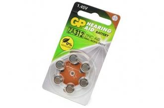 Батарейка воздушно-цинковая Hearing Aid ZA312F-D6 ZA312 BL6, GP Batteries