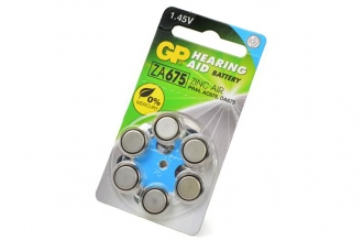 Батарейка воздушно-цинковая Hearing Aid ZA675F-D6 ZA675 BL6, GP Batteries