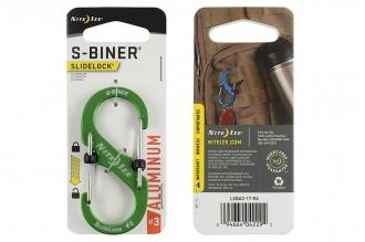 Алюминиевый двусторонний карабин S-Biner SlideLock #3 (green) Nite Ize
