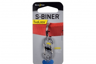Карабин двусторонний S-Biner TagLock (stainless) Nite Ize, США
