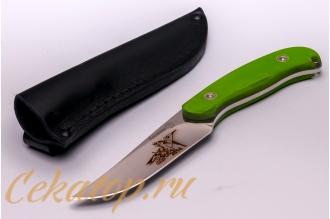 Нож «Касатка 2014 Прыжки на лыжах» (зеленый) Кизляр, Россия