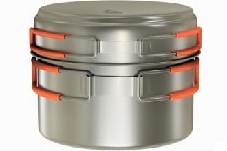 Кастрюля титановая Titanium Cookware 800 ml TS-012 NZ, Россия