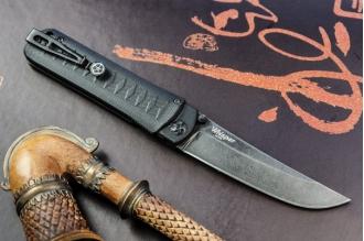 Нож складной Whisper (D2, StoneWash) Kizlyar Supreme