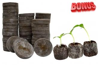 Бонус-пак: кокосовые таблетки Jiffy-7C 30 мм в количестве 100 шт. по спец. цене