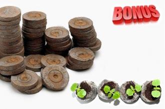 Бонус-пак: кокосовые таблетки Jiffy-7C 38 мм в количестве 200 шт. по спец. цене!