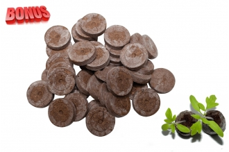 Бонус-пак: кокосовые таблетки Jiffy-7C 38 мм в количестве 100 шт. по спец. цене!
