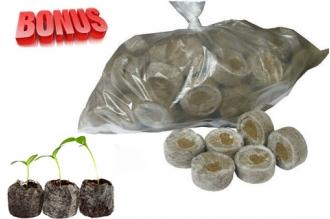 Бонус-пак: кокосовые таблетки Jiffy-7C 38 мм в количестве 300 шт. по спец. цене!