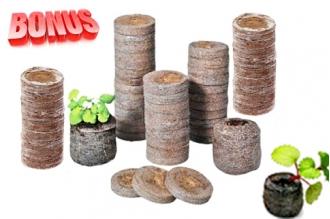 Бонус-пак: кокосовые таблетки Jiffy-7C 45 мм в количестве 300 шт. по спец. цене!