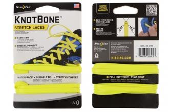 Удобный комплект эластичных шнурков (neon yellow) Nite Ize