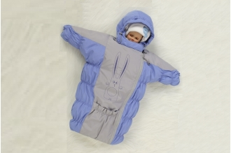 Конверт пуховой для новорожденных Имля Rock Pillars (серо-голубой)