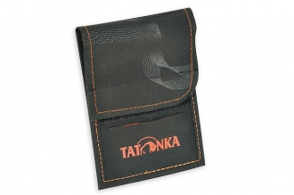 Замечательный кошелек шейный HY Neck Wallet (black-orange) Tatonka
