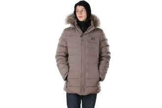 Куртка пуховая мужская Мануш (с мехом) Rock Pillars серый