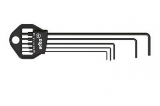 Набор удлиненных шестигранных ключей 352HM5 из 5 шт. Wiha, для винтов с внутренн