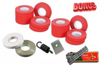 Ленты для тапенера Tapetool BZ-3 (20 шт.), комплект скоб и комплект запчастей