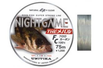 Леска NIGHTGAME FC 0.12, Unitika