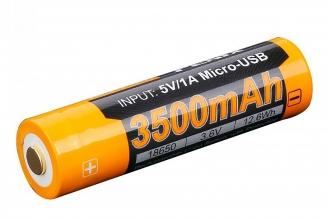 Аккумулятор Li-ion 18650 (3,6 В; 3500 мАч) ARB-L18-3500U Fenix
