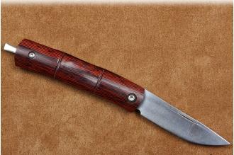 Складной нож  MC-0152  Mcusta, Япония, рукоять из дерева пакка