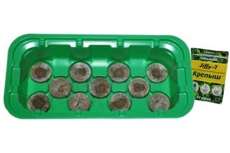 Удобная мини-теплица с торфяными таблетками Jiffy, 33 мм/11 ячеек