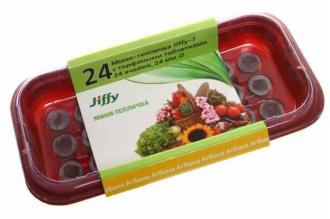 Мини-теплица с торфяными таблетками Jiffy, 33 мм/24 ячеек