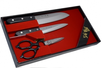 Набор из 2-х ножей и ножниц FT-013 Giftset, Tojiro