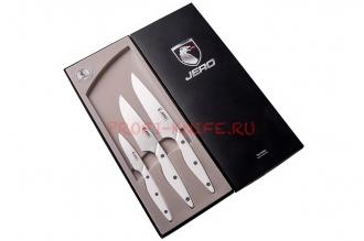 Набор ножей из 3 шт. Coimbra Corian White Jero